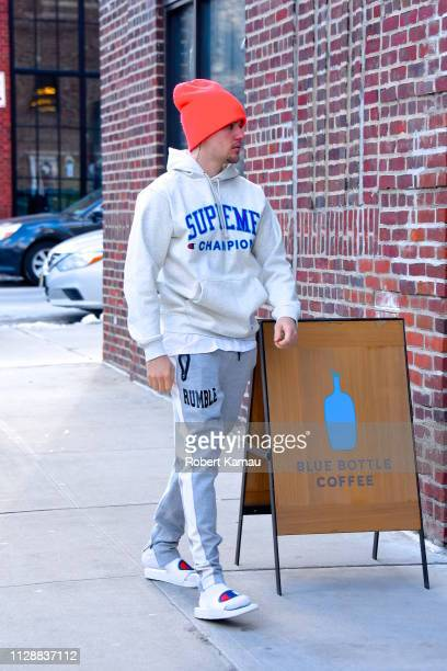 Justin Bieber seen out and about in Manhattan on March 6 2019 in New York City