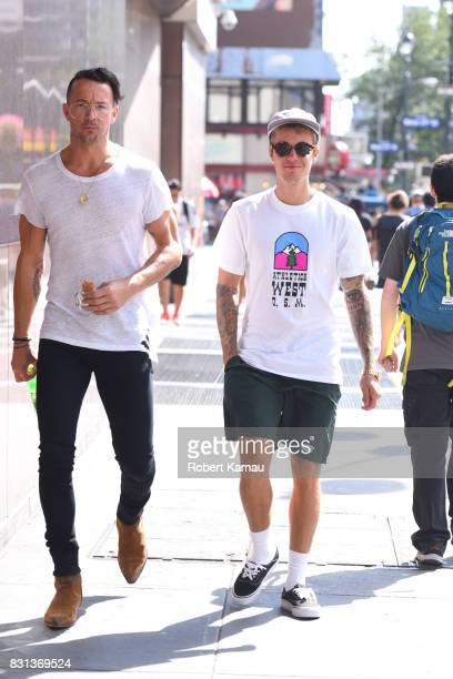 Justin Bieber seen out walking in Manhattan on August 13 2017 in New York City