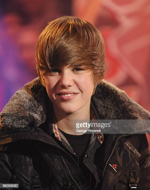 Justin Bieber visits Live@Much at the MuchMusic HQ on December 22 2009 in Toronto Canada