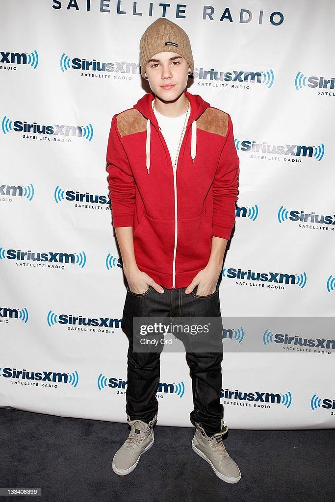 Justin Bieber Visits SiriusXM