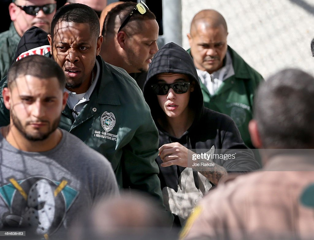 Justin Bieber Arrested In Miami Beach : News Photo