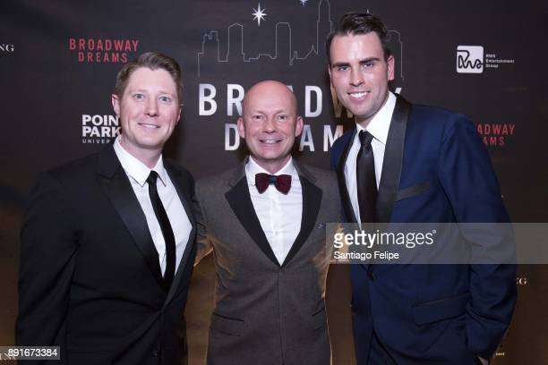 Justin Bohon Chris Nelson and Ryan Stana attend the 10th Annual Broadway Dreams Supper at The Plaza Hotel on December 12 2017 in New York City