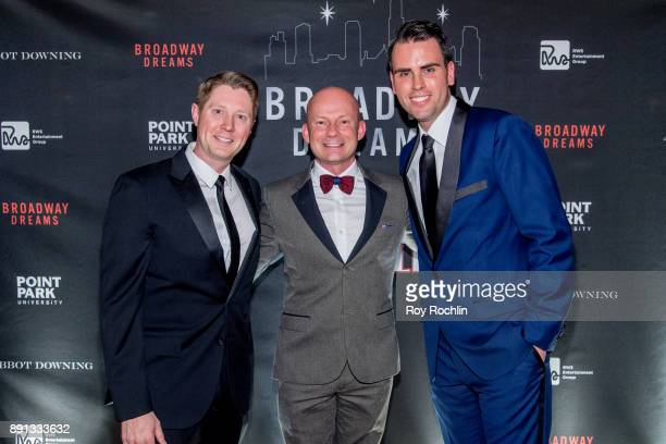 Justin Bohon Chris Nelson and Ryan Stana attend the10th Annual Broadway Dreams Supper at The Plaza Hotel on December 12 2017 in New York City