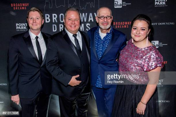 Justin Bohon Mark Brandon Jay Binder and Katie Zanca attend the10th Annual Broadway Dreams Supper at The Plaza Hotel on December 12 2017 in New York...