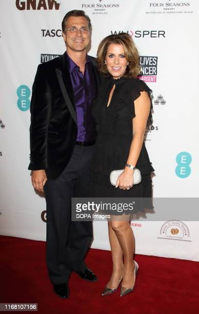 Justin Bower and Natasha Kaplinsky at the CLIC Sargent's 'A Very British Affair' Charity Auction at Claridges Hotel in London