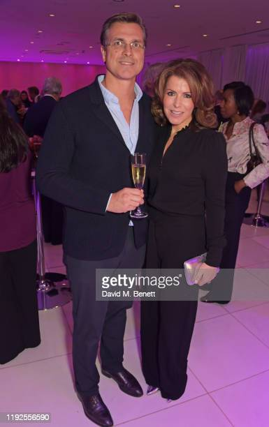 Justin Bower and Natasha Kaplinsky attend the press night preshow drinks reception for the English National Ballet's Le Corsaire at St Martins Lane...