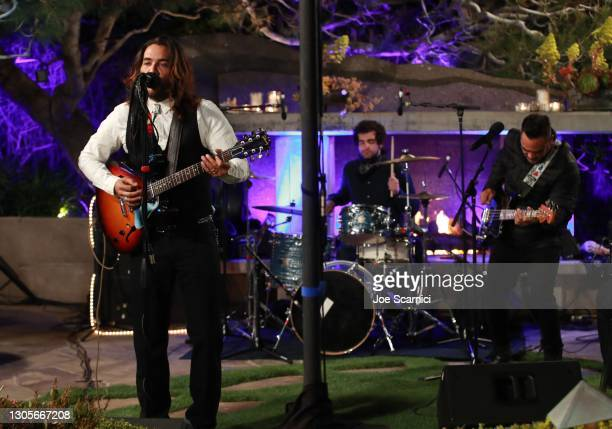 """Justin Brescia performs onstage during a private event with the cast of MTV's """"The Hills"""" hosted by Cure Addiction Now & The Red Songbird Foundation..."""