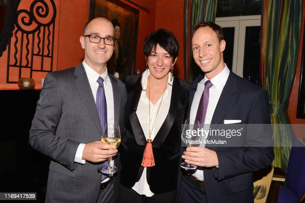 Justin Brown Ghislane Maxwell and Mark Bakacs attend Dom Perignon Ghislaine Maxwell Invite you to a cocktail reception Celebrating the launch of...