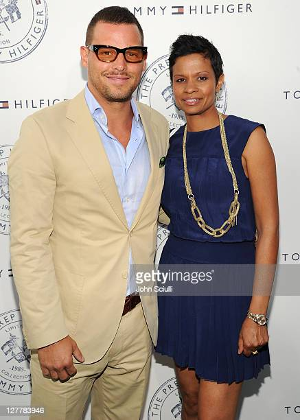 Justin Chambers and Keisha Chambers arrive for Tommy Hilfiger and Lisa Birnbach Celebration of Prep World on June 9, 2011 in Los Angeles, California.