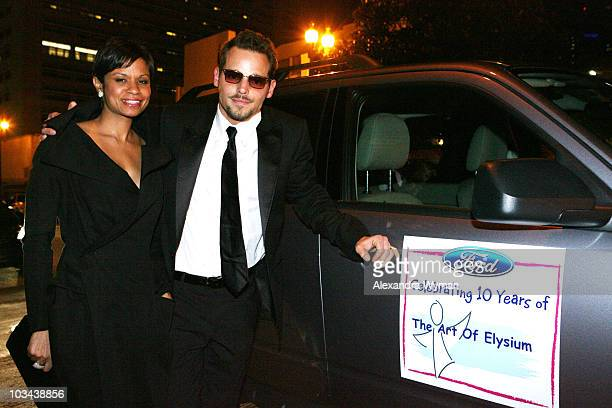Justin Chambers and Keisha Chambers arrives at The Art Of Elysium on January 12 2008 in Los Angeles California
