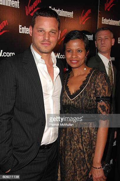 Justin Chambers and Keisha Chambers attend ENTERTAINMENT WEEKLY annual Up Fronts party at THE BOX NYC on May 15 2007 in New York City