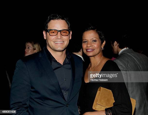 Justin Chambers and Keisha Chambers attend the Gersh Emmy nominees celebration on September 18 2015 in Beverly Hills California