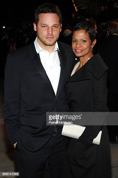 Justin Chambers and Keisha Chambers attend VANITY FAIR Oscar Party at Morton's on February 25 2007 in Los Angeles CA