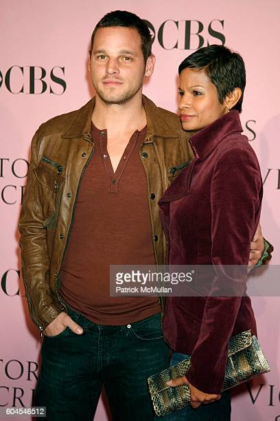Justin Chambers and Keisha Chambers attend Victoria Secret Fashion Show Arrivals at Kodak Theatre on November 16 2006 in Hollywood CA