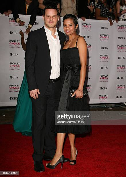 Justin Chambers and Keisha Chambers during 33rd Annual People's Choice Awards Arrivals at Shrine Auditorium in Los Angeles California United States