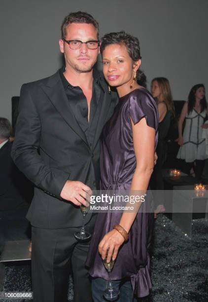 Justin Chambers and Keisha Chambers during ART PARTY, Hosted by The Whitney Contemporaries at Skylight Studis in New York City, New York, United...