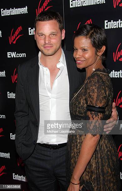 Justin Chambers and Keisha Chambers during Entertainment Weekly 2007 Upfront Party Red Carpet at The Box in New York City New York United States