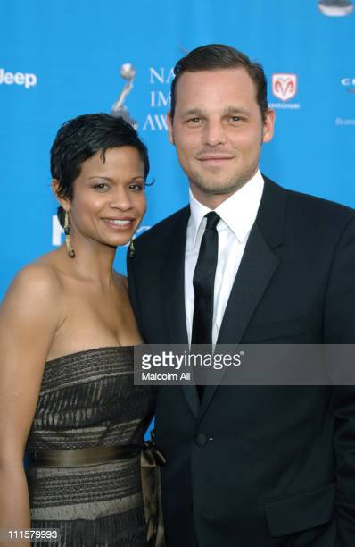 Justin Chambers and Keisha Chambers during The 37th Annual NAACP Image Awards Red Carpet at Shrine Auditorium in Los Angeles California United States