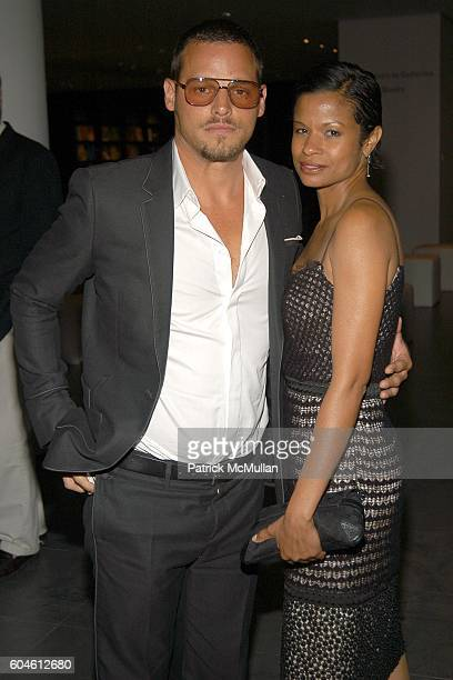 Justin Chambers and Keisha Leon Chambers attend GQ Party to Celebrate the 2006 CFDA Fashion Awards Menswear Nominees at The Museum of Modern Art on...