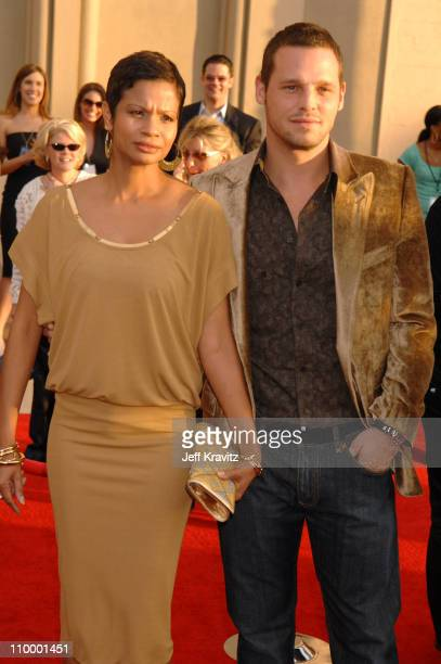 Justin Chambers and wife during 2006 American Music Awards Arrivals at Shrine Auditorium in Los Angeles California United States