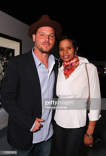 Justin Chambers and wife Keisha Chambers at IWC Schaffhausen Peter Lindbergh's Portofino held at Culver Studios on April 28 2011 in Culver City...