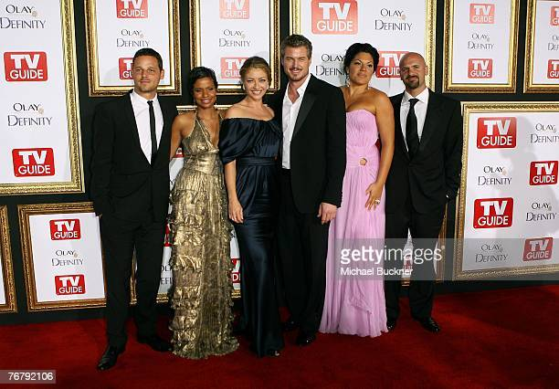 Justin Chambers and wife Keisha Rebecca Gayheart Eric Dane Sara Ramirez and guest arrive at TV Guide's 5th Annual Emmy Party September 16 2007 in Los...