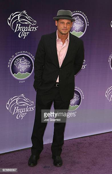 Justin Chambers arrives at the Breeders' Cup World Thoroughbred Championships on November 7 2009 in Arcadia California