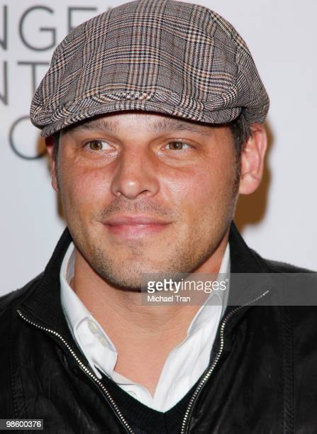 Justin Chambers arrives to Opening Night Preview Party of the LA Antique Show benefiting PS ARTS held at Barker Hangar on April 21 2010 in Santa...