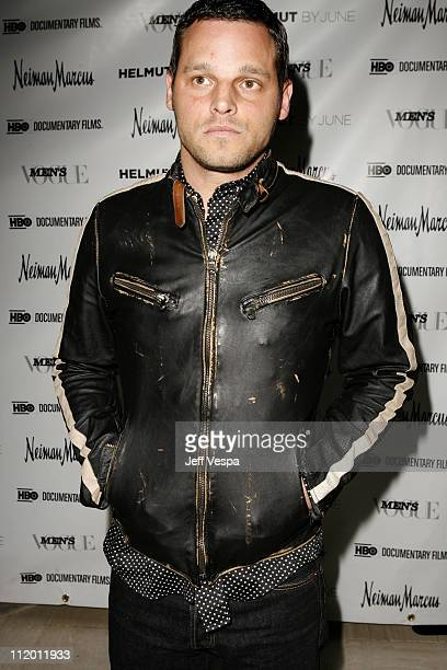 Justin Chambers during Men's Vogue Hosts a Private Screening of Helmut by June with Brett Ratner at Neiman Marcus in Beverly Hills California United...