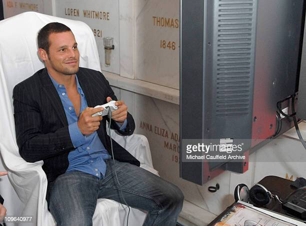 Justin Chambers during Xbox 360 Gears of War Launch Party Inside at Hollywood Forever Cemetery in Hollywood California United States
