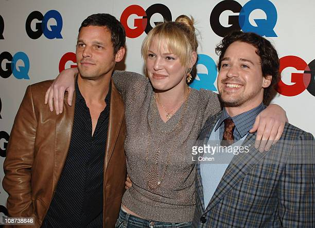Justin Chambers Katherine Heigl and TR Knight during GQ Magazine Celebrates the 2005 Men of the Year Red Carpet at Mr Chow in Beverly Hills...