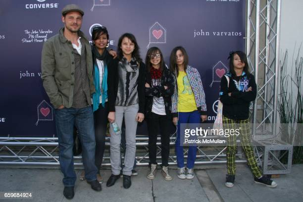 Justin Chambers Keisha Chambers Isabella Chambers Kaila Chambers Maya Chambers and Eva Chambers attend BRING YOUR HEART TO OUR HOUSE JOHN VARVATOS...