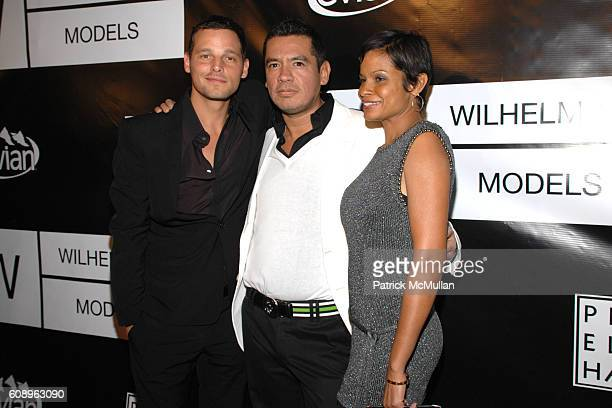 Justin Chambers Sean Patterson and Keisha Chambers attend WILHELMINA MODELS 40th Anniversary at The Angel Orensanz Foundation on November 29 2007 in...