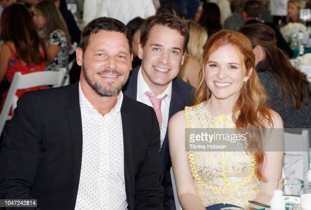 Justin Chambers T R Knight and Sarah Drew attend The Rape Foundation's Annual Brunch on October 7 2018 in Beverly Hills California