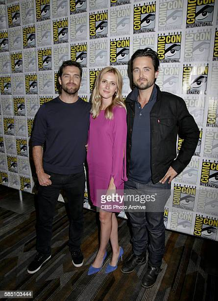 Justin Chatwin Megan Ketch and Antony Starr of American Gothic at COMICCON 2016 in San Diego California