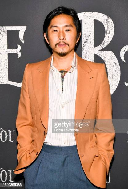 """Justin Chon attends the Los Angeles Premiere of Focus Features' """"Blue Bayou"""" at DGA Theater Complex on September 14, 2021 in Los Angeles, California."""