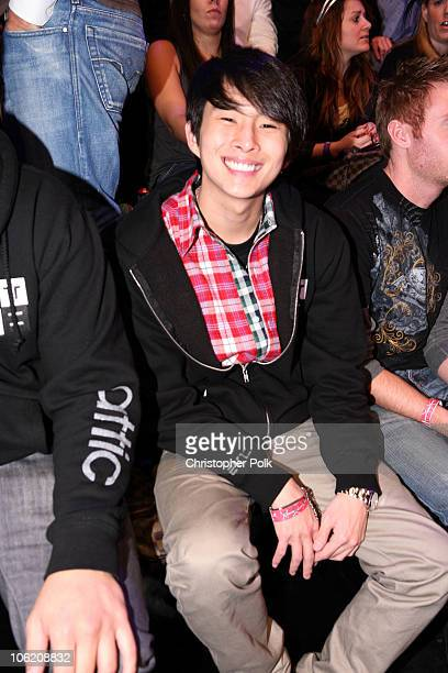 Justin Chon in the audience during the taping of Randy Jackson Presents America's Best Dance Crew Season 3 in Burbank CA on February 17 2009