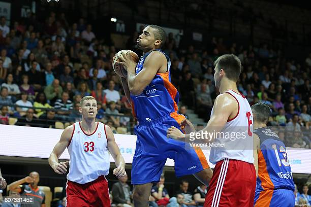 Justin Cobbs of Gravelines during the Final match between Strasbourg and Gravelines Dunkerque at Tournament ProStars at Salle Arena Loire on...