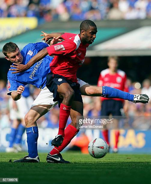 Justin Cochrane of Crewe holds off Ian Westlake of Ipswich during the Coca Cola Championship match between Ipswich Town and Crewe Alexandra at...
