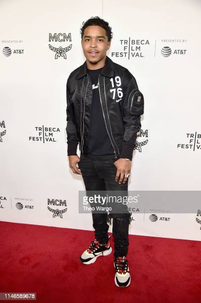 Justin Combs attends the premiere of The Remix Hip Hop x Fashion at Tribeca Film Festival at Spring Studios on May 02 2019 in New York City