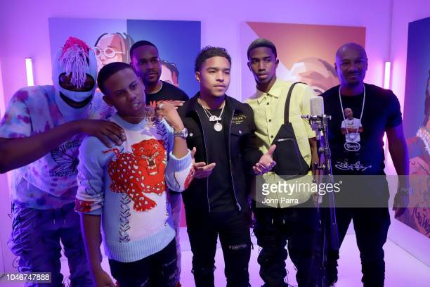 Justin Combs Christian Combs Big Tigger and guest attend the BET Hip Hop Awards 2018 at Fillmore Miami Beach on October 6 2018 in Miami Beach Florida