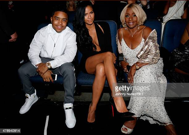 Justin Combs guest and Misa Hylton Brim attend the 2015 BET Awards at the Microsoft Theater on June 28 2015 in Los Angeles California