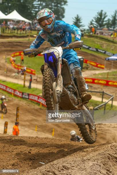 Justin Cooper during the Lucas Oil Pro Motocross Championship 250cc race at Southwick National The Wick 338 in Southwick Massachusetts on June 30...