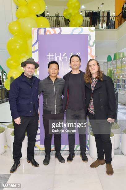 Justin Corbett Henry Kim James Chung and Michael Gillham attend Barneys New York Celebrates Haas for the Holidays Hosted by Matthew Mazzucca Nikolai...