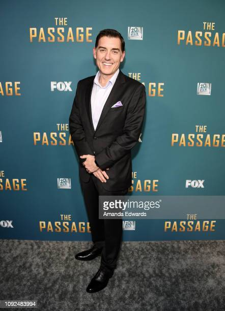 Justin Cronin arrives at FOX's 'The Passage' Premiere Party at The Broad Stage on January 10 2019 in Santa Monica California