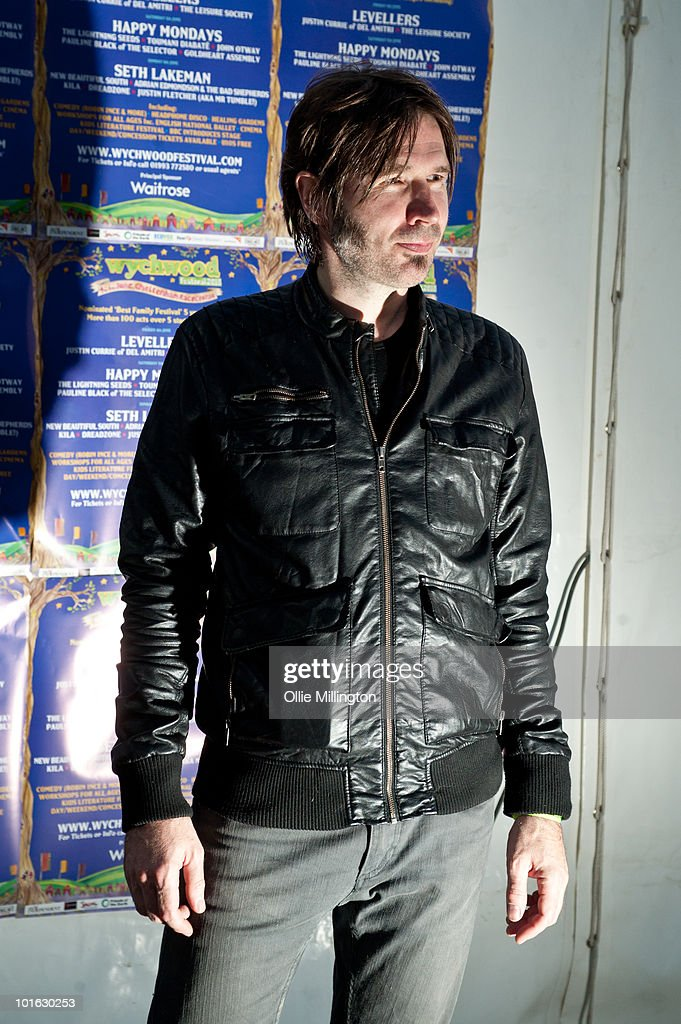 Justin Currie backstage on the first day of Wychwood Festival at Cheltenham Racecourse on June 4, 2010 in Cheltenham, England.