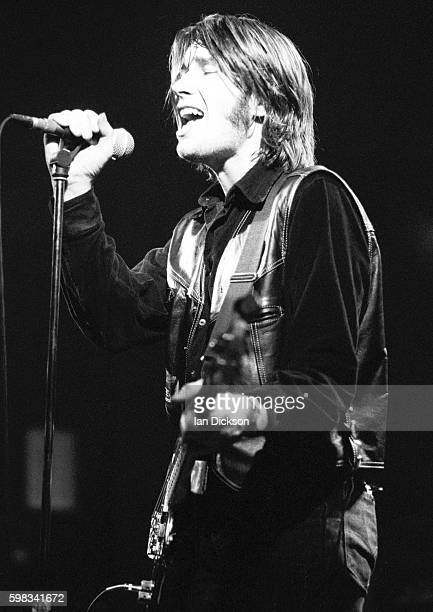 Justin Currie of Del Amitri performing on stage at Barrowlands Glasgow Scotland 19 December 1990
