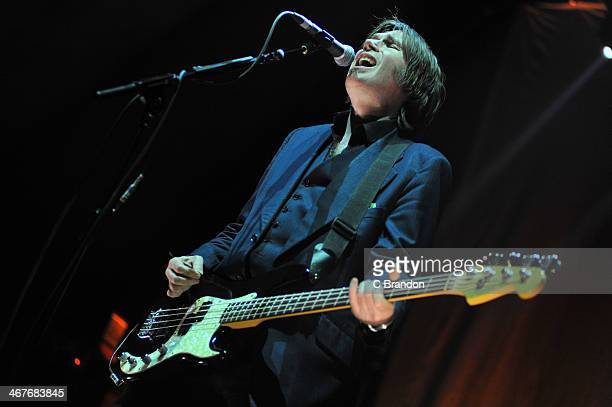 Justin Currie of Del Amitri performs on stage at Hammersmith Apollo on February 7 2014 in London United Kingdom