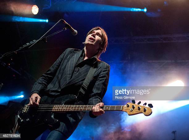 Justin Currie of Del Amitri performs on stage at Wickerman Festival at Dundrennan on July 26 2014 in Dumfries United Kingdom