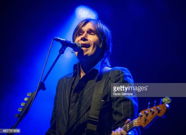 Justin Currie of Del Amitri performs on stage at Wickerman Festival at Dundrennan on July 26, 2014 in Dumfries, United Kingdom.